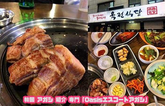 韓国アガシと行くサムギョプサル 肉典食堂
