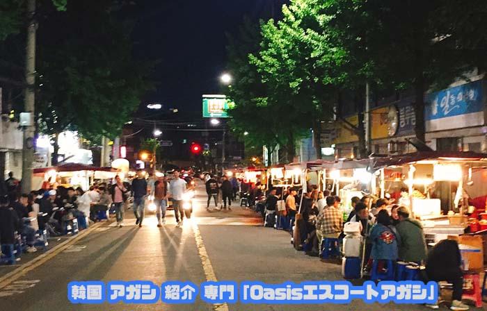 韓国アガシ エスコートアガシ と鍾路3街 屋台通り