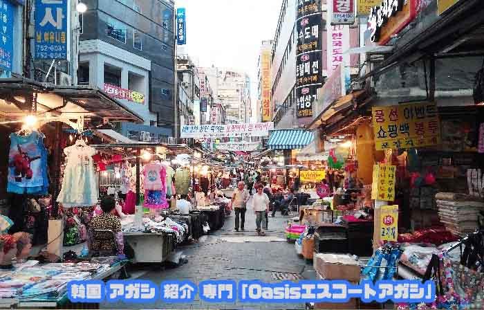 明洞(ミョンドン)のすぐ近くにある韓国を思わせる地元市場です
